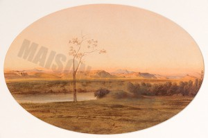 La campagne romaine au crepuscule - Ravier