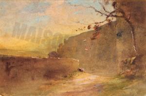 Chemin sous les remparts - Ravier