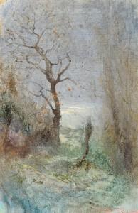Paysage d hiver - Ravier