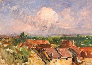 Les toits de Morestel - Ravier