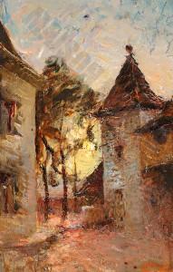 La cour de la maison du peintre - Ravier